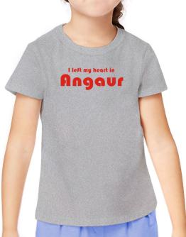 I Left My Heart In Angaur T-Shirt Girls Youth