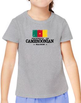 Property of Cameroonian Nation T-Shirt Girls Youth