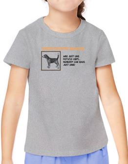 North Country Beagles are just like potato chips T-Shirt Girls Youth