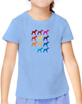 Colorful Fox Terrier T-Shirt Girls Youth