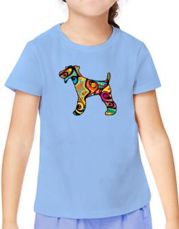 Psychedelic Fox Terrier T-Shirt Girls Youth