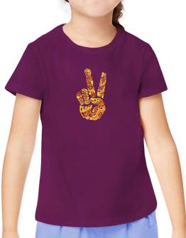 Peace Sign - Hand Collage T-Shirt Girls Youth