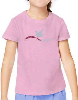 There Is No Way To Peace, Peace Is The Way T-Shirt Girls Youth