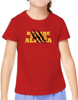 Beware Of The Alpaca T-Shirt Girls Youth