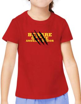 Beware Of The Andean Condor T-Shirt Girls Youth