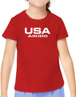 Usa Aikido / Athletic America T-Shirt Girls Youth