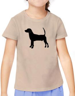 North Country Beagle silhouette T-Shirt Girls Youth