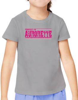 Property Of Aurorette - Vintage T-Shirt Girls Youth