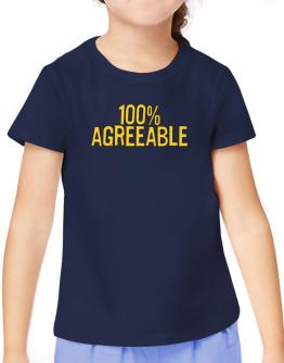 100% Agreeable T-Shirt Girls Youth