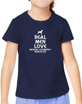Real men love North Country Beagles T-Shirt Girls Youth