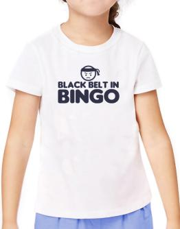 Black Belt In Bingo T-Shirt Girls Youth
