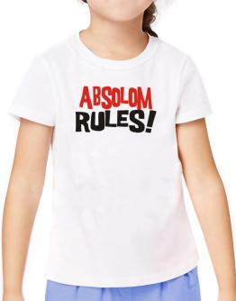 Absolom Rules! T-Shirt Girls Youth