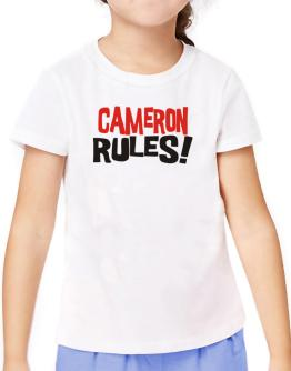 Cameron Rules! T-Shirt Girls Youth