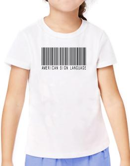 American Sign Language Barcode T-Shirt Girls Youth