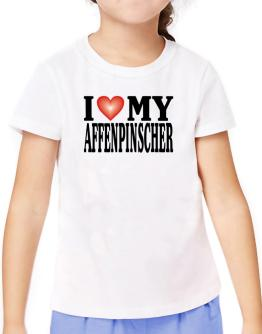 I Love Affenpinscher T-Shirt Girls Youth