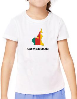 Cameroon - Country Map Color T-Shirt Girls Youth