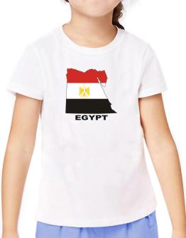 Egypt - Country Map Color T-Shirt Girls Youth