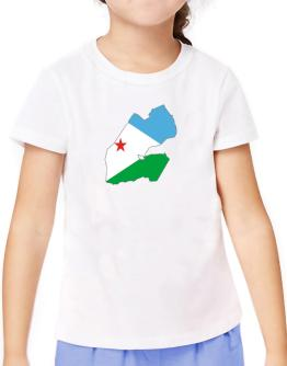 Djibouti - Country Map Color Simple T-Shirt Girls Youth