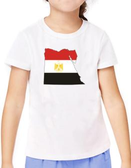 Egypt - Country Map Color Simple T-Shirt Girls Youth