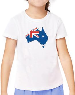 Australia - Country Map Color Simple T-Shirt Girls Youth