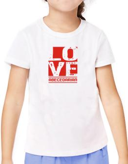 Love Abecedarian T-Shirt Girls Youth