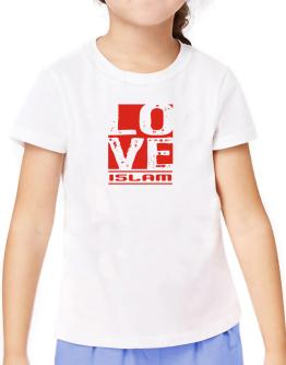 Love Islam T-Shirt Girls Youth
