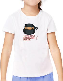 Carrer Goals: Agricultural Microbiologist - Ninja T-Shirt Girls Youth