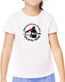 Abecedarian By Day, Ninja By Night T-Shirt Girls Youth