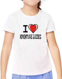 I Love Adventure Guides T-Shirt Girls Youth