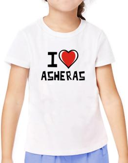 I Love Asheras T-Shirt Girls Youth