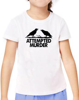 Crows Attempted Murder T-Shirt Girls Youth