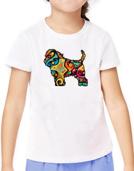 Psychedelic Affenpinscher T-Shirt Girls Youth