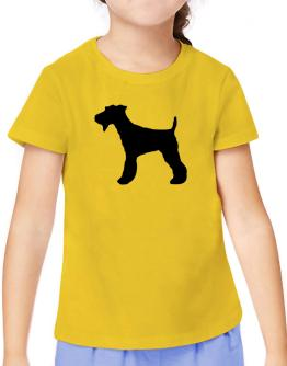 Fox Terrier silhouette T-Shirt Girls Youth