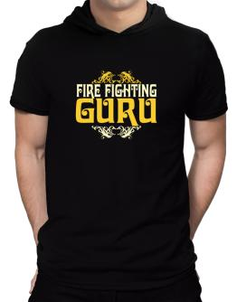 Fire Fighting Guru Hooded T-Shirt - Mens