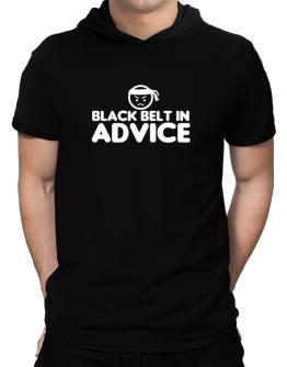 Black Belt In Advice Hooded T-Shirt - Mens
