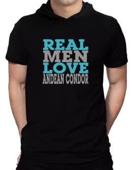 Real Men Love Andean Condor Hooded T-Shirt - Mens