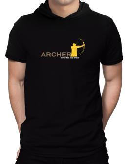 Archery - Only For The Brave Hooded T-Shirt - Mens