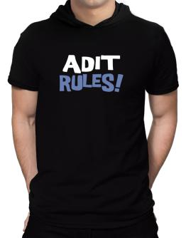 Adit Rules! Hooded T-Shirt - Mens