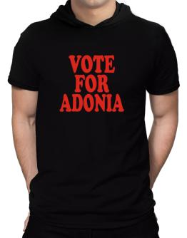 Vote For Adonia Hooded T-Shirt - Mens