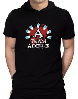 Team Adelle - Initial Hooded T-Shirt - Mens