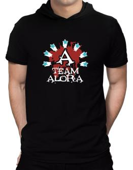 Team Alora - Initial Hooded T-Shirt - Mens