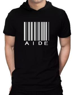 Aide - Barcode Hooded T-Shirt - Mens
