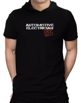 Automotive Electrician - Off Duty Hooded T-Shirt - Mens