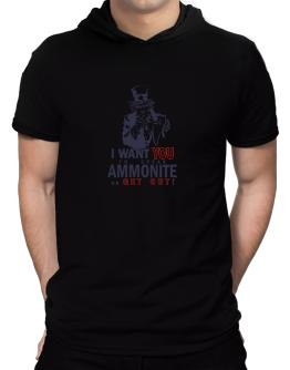 I Want You To Speak Ammonite Or Get Out! Hooded T-Shirt - Mens