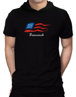 Bismarck - Us Flag Hooded T-Shirt - Mens