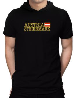 """ Steiermark - Flag "" Hooded T-Shirt - Mens"