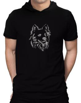 """ Australian Cattle Dog FACE SPECIAL GRAPHIC "" Hooded T-Shirt - Mens"