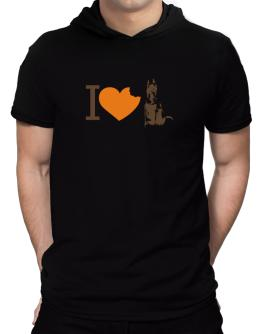 I love Belgian Malinoises Hooded T-Shirt - Mens