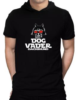 Dog Vader : Dachshund Hooded T-Shirt - Mens