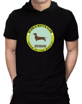 Dachshund - Wiggle Butts Club Hooded T-Shirt - Mens